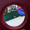KRISTOPHER RADDER - BRATTLEBORO REFORMER<br /> Thomas Miller goes down the inrun during his first jump in the Men's U.S. Cup at the Harris Hill Ski Jump, in Brattleboro, Vt., on Saturday, Feb. 17, 2018.