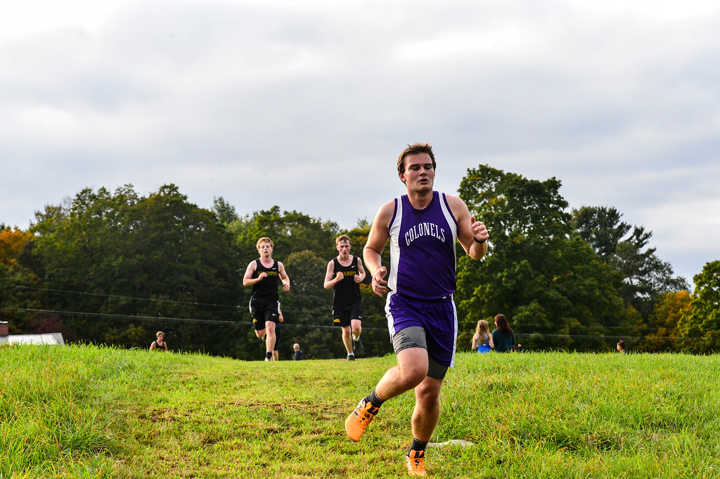 . Five teams competed in the Marble Valley meet hosted by Brattleboro on East Orchard Road on Tuesday, Oct. 4, 2016. Kristopher Radder / Reformer Staff