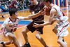 KELLY FLETCHER, REFORMER CORRESPONDENT -- Twin Valley's Izaak Park reaches in to help team mate Jack McHale keep posession of the ball from Proctor's Brennon Crossmon during Saturday's division 4 championship game in Barre.