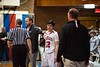 KELLY FLETCHER, REFORMER CORRESPONDENT -- Twin Valley's Izaak Park gets a pat of encouragement from Proctor coach, Jake Eaton when he comes off the court.  His focus, however is on his own coach, Chris Brown, after their dissapointing Division 4 Championship loss in Barre on Saturday.