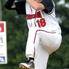 Souderton starter Josh Freed delivers pitch to plate in Connie Mack game against Deep Run, Monday. KenZepp 6-20-11