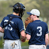 Springfield catcher Chris Bornholdt comes to the mound for a conference with Jake Yannessa,<br /> Bob Raines 4/26/11