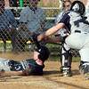 Springfield's Ryan Lightkep tagged out by Devon Prep catcher, Nick Pancerella.<br /> Bob Raines 4/26/11