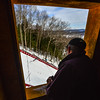 KRISTOPHER RADDER - BRATTLEBORO REFORMER<br /> Judges watch as a skier makes his landing at the Harris Hill Ski Jump in Brattleboro, Vt., on Saturday, Feb. 18, 2017.