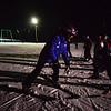 KRISTOPHER RADDER - BRATTLEBORO REFORMER<br /> Leslie Kearsley, a ski instructor for Mount Snow, talks to a group of children during a free lesson at Living Memorial Park on Thursday, Jan. 11, 2018.