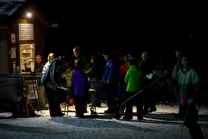 KRISTOPHER RADDER - BRATTLEBORO REFORMER<br /> Instructors from Mount Snow give free lessons to children at Living Memorial Park on Thursday, Jan. 11, 2018.