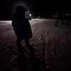 KRISTOPHER RADDER - BRATTLEBORO REFORMER<br /> Leslie Kearsley, a ski instructor for Mount Snow, watches her students ski during a free lesson at Living Memorial Park on Thursday, Jan. 11, 2018.