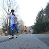 KRISTOPHER RADDER - BRATTLEBORO REFORMER<br /> Adam Witkowski, Peru, Vt., a student at Stratton Mountain School, roller skis on Ball Mountain Lane during a cross-country ski practice on Wednesday, Nov. 29, 2017.