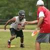 Parth Patel runs through a defensive drill.<br /> Bob Raines 8/23/10