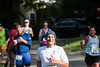 Runners in the Green River Marathon approach the Crayfish aid station at the Green River Bridge in Guilford on Sunday; KELLY FLETCHER, REFORMER CORRESPONDENT