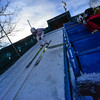 KRISTOPHER RADDER - BRATTLEBORO REFORMER<br /> Spencer Knickerbocker takes off on the inrun during practice on Friday, Feb. 17, 2017 for this weekend's ski competition at the Harris Hill Ski Jump in Brattleboro, Vt.