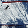 BEN GARVER - BRATTLEBORO REFORMER<br /> Ski jumpers competitors from around the world practice Friday, Feb. 17, 2017 at the Harris Hill Ski Jump in Brattleboro, Vt., before this weekend's competition.
