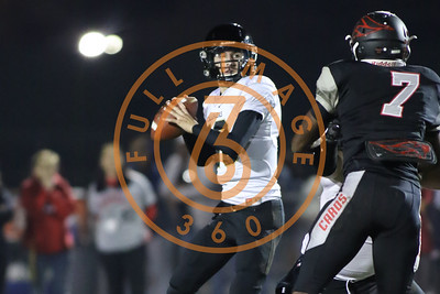 Nov 20 : Calabasas Coyotes quarterback Tristan Gebbia (13) Game action in quarterfinals of CIFSS Playoffs with Calabasas vs. Lawndale at Lawndale High School in Lawndale, Ca (Photo by Jevone Moore/Full Image 360)