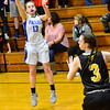 KRISTOPHER RADDER - BRATTLEBORO REFORMER<br /> Hinsdale's Delaney Wilcox nails a three-pointer during the start of the playoff game.