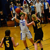 KRISTOPHER RADDER - BRATTLEBORO REFORMER<br /> Hinsdale girls varsity team took on Pittsburg-Canaan during a playoff game at Hinsdale High School on Tuesday, Feb. 20, 2018.