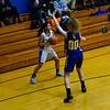 KRISTOPHER RADDER — BRATTLEBORO REFORMER<br /> Hinsdale girls' host Concord Christian Academy during a girls' basketball game at Hinsdale High School on Monday, Jan. 7, 2019.