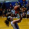 KRISTOPHER RADDER — BRATTLEBORO REFORMER<br /> Hinsdale's Angelina Nardollia takes a shot during a girls' basketball game at Hinsdale High School on Monday, Jan. 7, 2019.