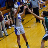 RISTOPHER RADDER — BRATTLEBORO REFORMER<br /> Hinsdale's Delaney Wilcox sinks a three-pointer during a basketball game on Friday, Jan. 4, 2018.