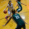 KRISTOPHER RADDER — BRATTLEBORO REFORMER<br /> Hinsdale's Kleay Steever tries to get through Sunapee's defense during a basketball game on Friday, Jan. 4, 2018.