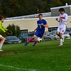 KRISTOPHER RADDER — BRATTLEBORO REFORMER<br /> Hinsdale hosted Newport during a boys soccer game on Tuesday, Oct. 8, 2019.