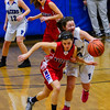 KRISTOPHER RADDER - BRATTLEBORO REFORMER<br /> Hinsdale girls' host Mascenic during a girls' varsity basketball game at Hinsdale High School on Tuesday, Jan. 10, 2017.