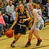 KRISTOPHER RADDER - BRATTLEBORO REFORMER<br /> Twin Valley's Sammy Morse tries to get around Leland & Gray's Jessalyn Stockwell during the Hoops for Hope basketball game at Leland & Gray Union Middle High School on Thursday, Jan. 26, 2017.