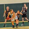KRISTOPHER RADDER - BRATTLEBORO REFORMER<br /> Leland & Gray's Rachel Borgesen steals the ball during the Hoops for Hope basketball game at Leland & Gray Union Middle High School on Thursday, Jan. 26, 2017.