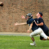 Jenkintown's Pat Durkin tries to outpace Luke Ashenbrenner for a pass.