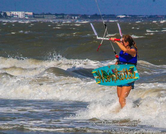 KITEBOARDING ROUGH SEAS | 8-28-16