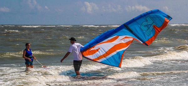 KITEBOARDING ROUGH SEAS   8-28-16