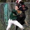 SB_LC HH_1214<br /> Lansdale Catholic's Alicia Kradzinski gets the throw toolate to force Hatboro Horsham's Dana Edwards at first base.<br /> Bob Raines 3.26.12