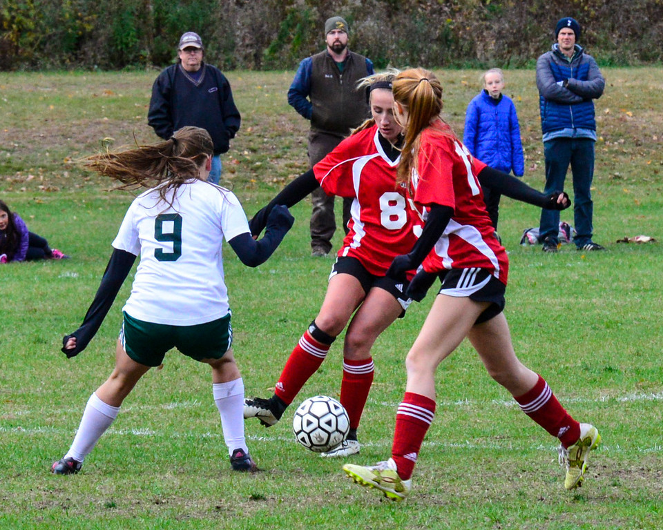 . Leland & Gray beats Twin Valley 4-0 during a playoff game at Leland & Gray Union High School on Tuesday, Oct. 25, 2016.  Kristopher Radder / Reformer Staff