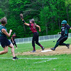 KRISTOPHER RADDER - BRATTLEBORO REFORMER<br /> Leland & Gray destroys Proctor 23-4 during a softball game at Leland & Gray Union Middle and High School on Wednesday, May 23, 2018.