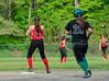 Leland & Gray's softball team continued its game against Twin Valley on Thursday, May 26, that was rained out on Friday, May 13, 2016. Leland & Gray would beat Twin Valley 19-0.