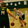 KRISTOPHER RADDER — BRATTLEBORO REFORMER<br /> <br /> KRISTOPHER RADDER — BRATTLEBORO REFORMER<br /> Leland & Gray's Sammantha Pelton gets through Burr and Burton's defense during a unified basketball game at Leland & Gray Union High School on Thursday, April 11, 2019.