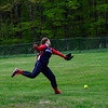 KRISTOPHER RADDER - BRATTLEBORO REFORMER<br /> A high-scoring back and forth between Leland & Gray and Hartford's softball teams during a game at Leland & Gray Union Middle and High School on Tuesday, May 9, 2017.