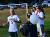 Leland & Gray loses to Green Mountain 4-0 during a girls' varsity soccer match on Wednesday, Oct. 19, 2016. Kristopher Radder / Reformer Staff