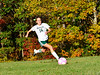 Leland & Gray's Ashley Bates takes an attempt on goal during a girls' varsity soccer match against Green Mountain on Wednesday, Oct. 19, 2016. Kristopher Radder / Reformer Staff