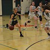 PHOTOS BY LINDA SPERRY <br /> Leland & Gray girls' varsity lost to Green Mountain Union High School during the Hoops for Hope game at Leland & Gray Union Middle and High School on Thursday, Jan. 18, 2018.