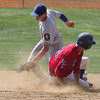 Mascaro's Drew Schaffer steals second before Wayne's Dan Tornetta can make the tag.<br /> Bob Raines 7/17/10