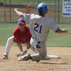 Mascaro's Nick Strizziere puts out Wayne's Kyle Rosenbluth trying to steal second.<br /> Bob Raines 7/17/10