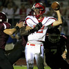 Neshaminy quarterback Joe Bianchino gets overrun by Abington defense.<br /> Bob Raines 9/26/11