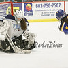 York's Goalie Olivia Drew makes a save on a shot by Falmouth's #15 Lucy Meyer during the Girls Hockey Maine Western Conference Semi-Finals with The York Lady Wildcats vs Falmouth Lady Yachtsmen on Monday 2-11-2013 @ The Dover Ice Rinks, Dover NH.  Photo by Matt Parker