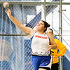 Winnacunnet's Corina Chao wins the Girls Shot Put with a throw of 35-01.75 @ the NHIAA Division I Indoor Track & Field Championships @ Dartmouth College Hanover, NH on Sunday 2-3-2013.  Photo by Matt Parker.