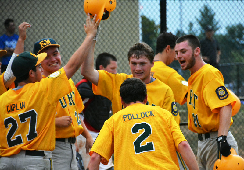 Ft Washington Generals, #20 Ryan Coonahan was after he hit a homerun during the 2nd inning. Photo by Debby High
