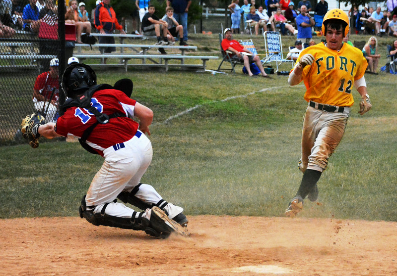 Collin Mattice hit home adding run number 4 the Generals winning 7th inning. Photo by Debby High