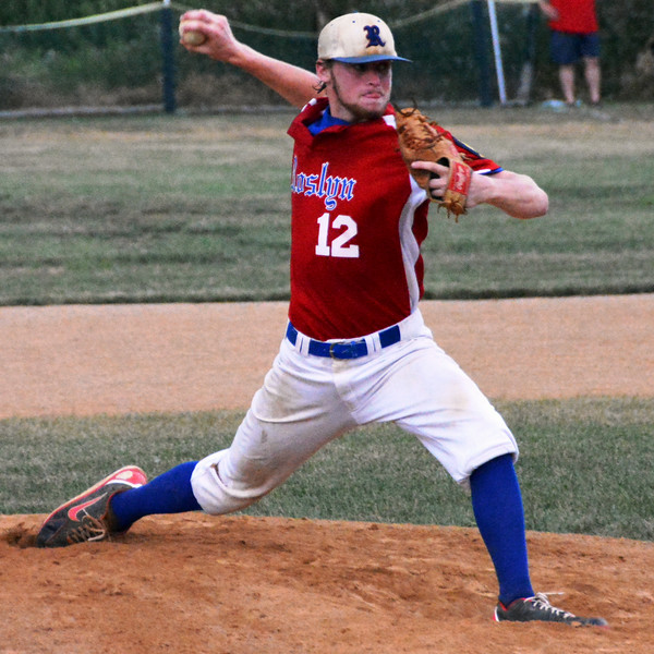 Roslyn Blue Hawks, Eric Tidwell pitcher keep the flying. Photo by Debby High