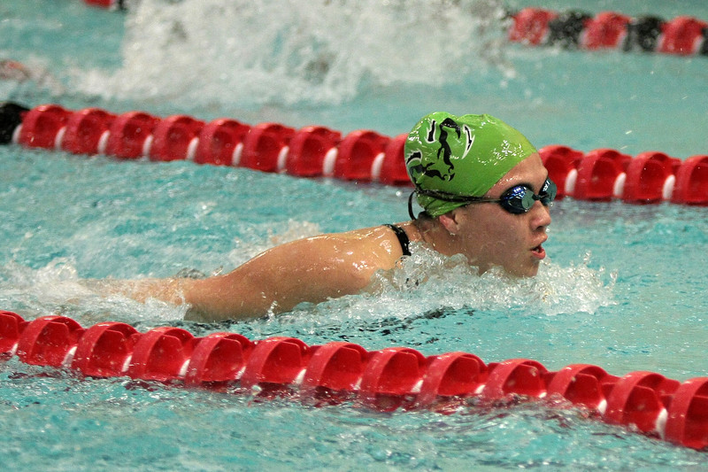 SW_PR HH_4269     Pennridge's Kylee Smith swims the butterfly leg of the 200m. medley relay at Hatboro Horsham.