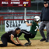 Pennridge's Emily Mahew steals second as Hatboro Horsham's Daria Edwards digs the ball out of the dirt.