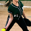 Pennridge's Paige De Cew pitches to Hatboro Horsham.